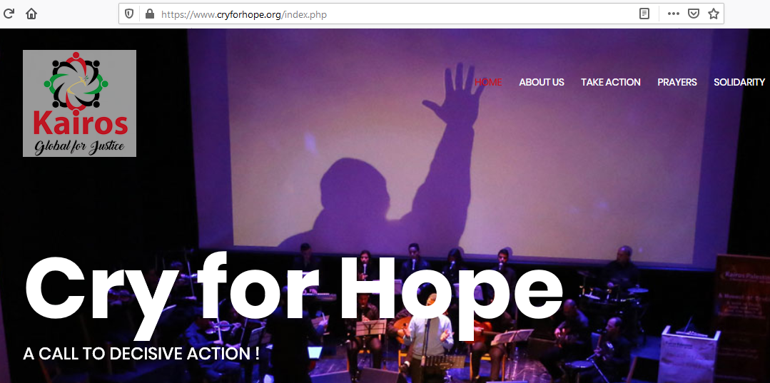 Cry for Hope / Global Kairos for Justice website