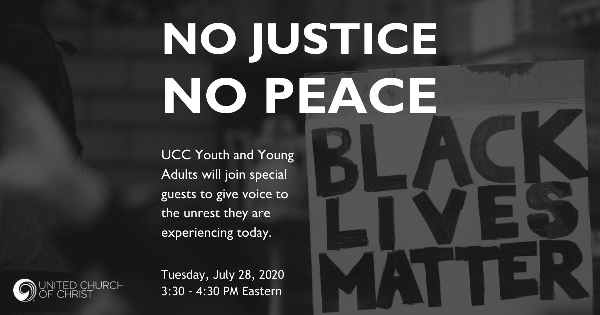 No Justice No Peace webinar image July 2020
