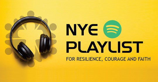 NYE playlist 2020 logo