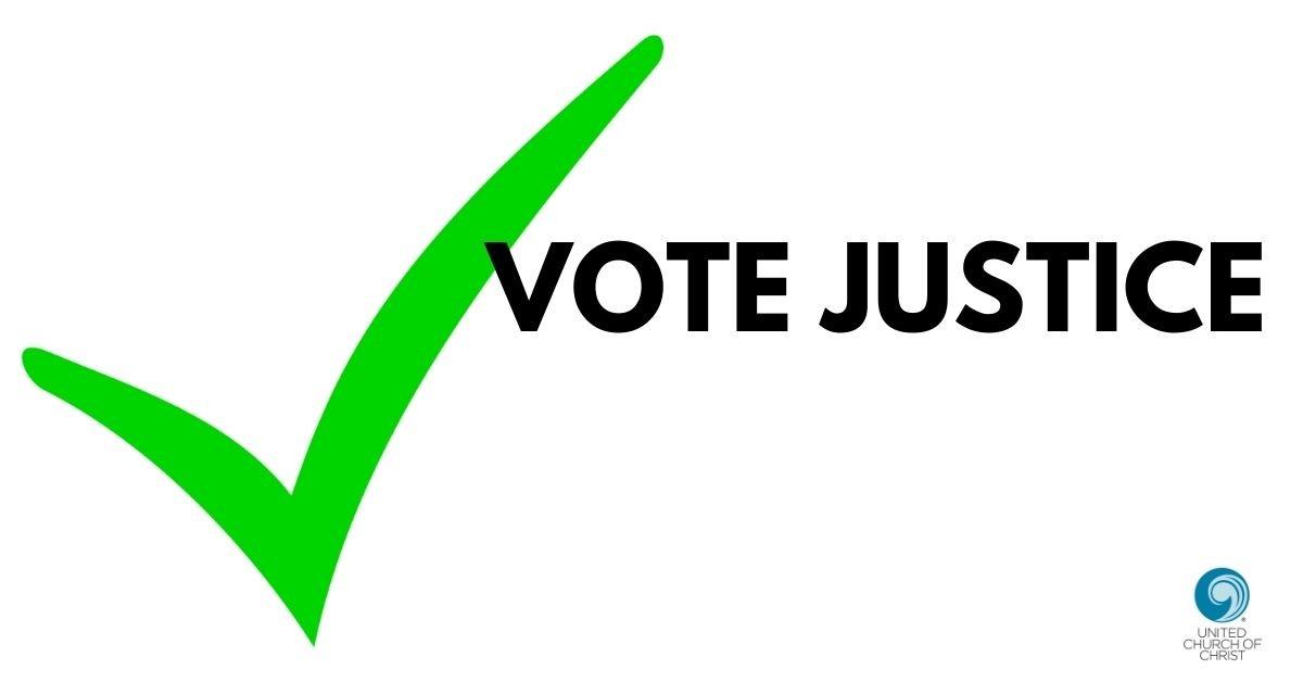 Vote Justice logo 2020
