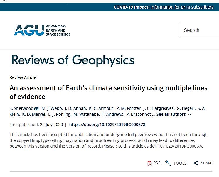 AGU climate article 7/22/20 screen shot
