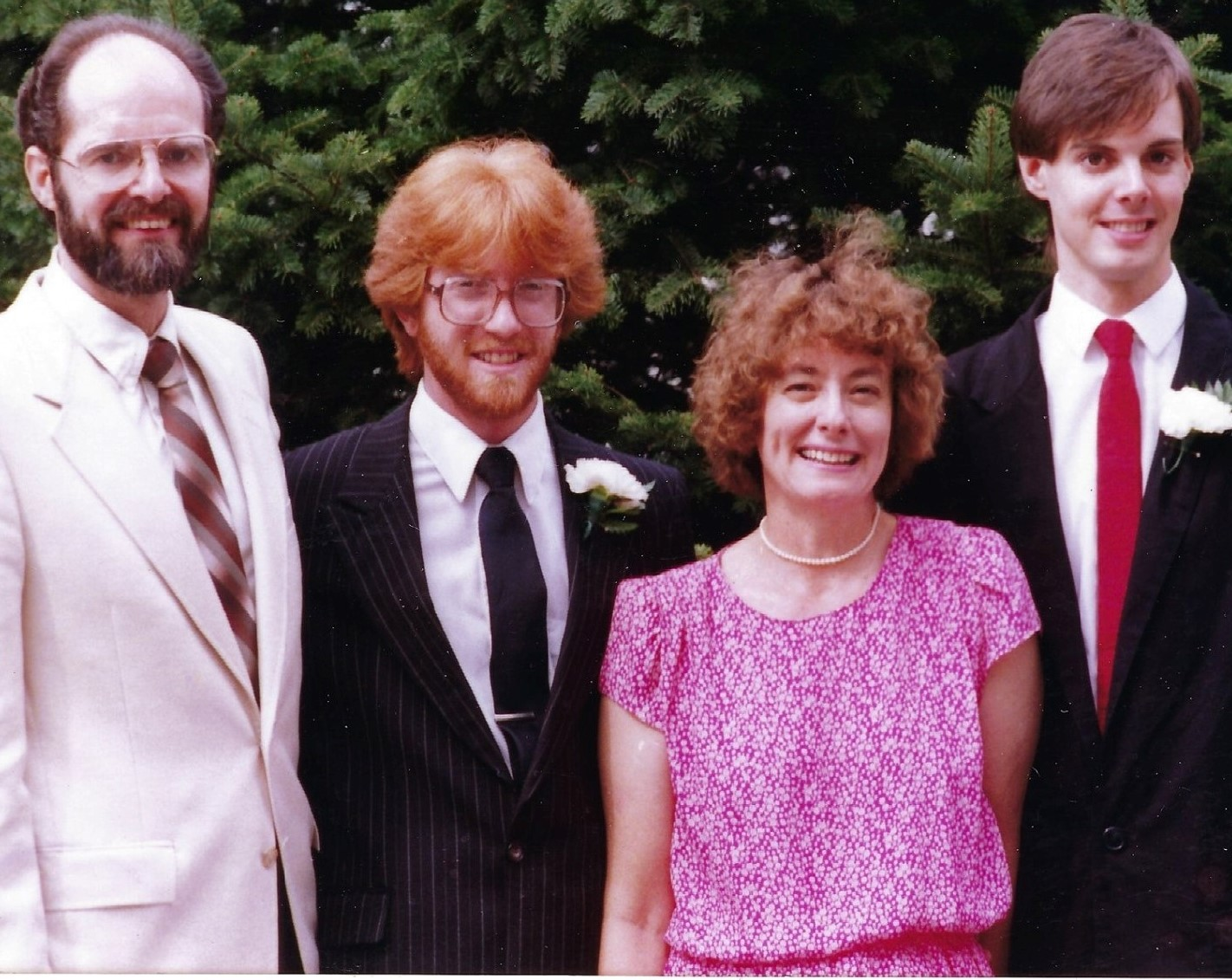 Evan Golder and family in 1988