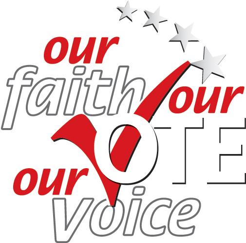 Our Faith Our Voice 2020 logo