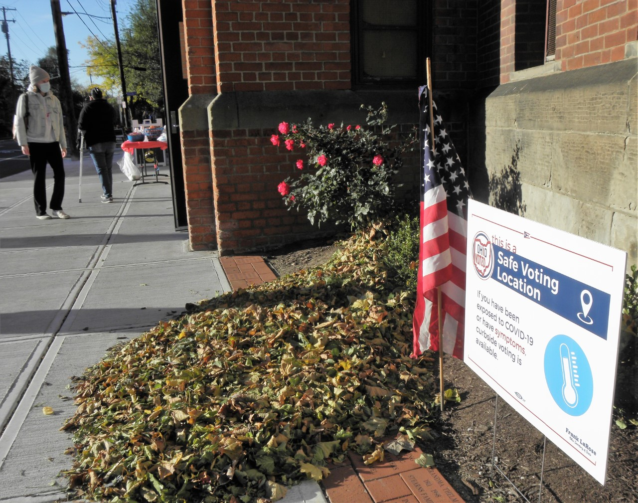 Polling place sign, Franklin Circle Chrisitan Church, Cleveland, 11/3/20
