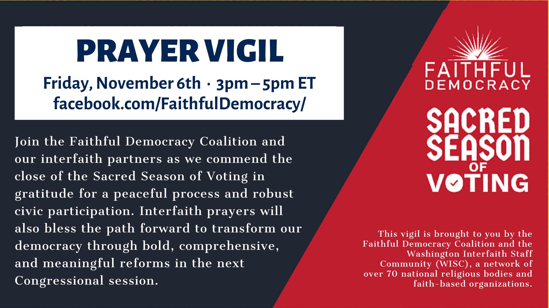 Faithful Democracy post-election image 2020