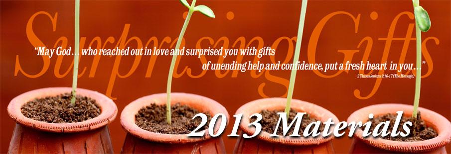 2013 Stewardship Theme Materials