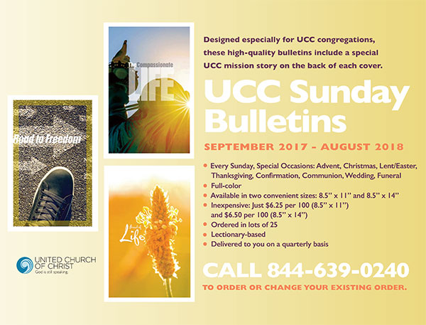 sunday bulletin service united church of christ