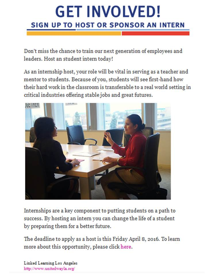 United Way LA Host An Intern