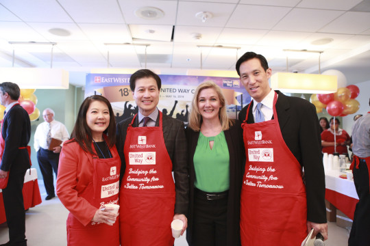 Pictured: Julia Gouw, Dominic Ng, Elise Buik, Robert Lo