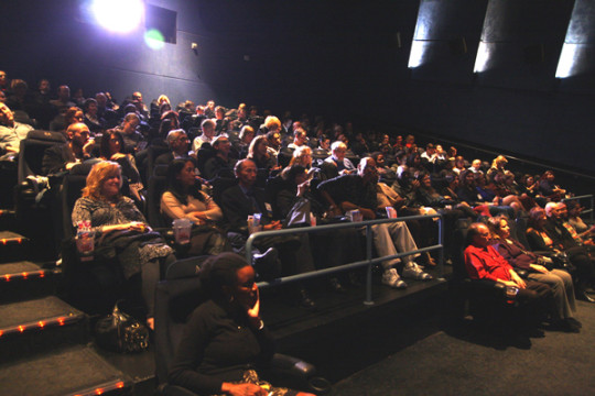 Pictured: Donors and advocates gathered to enjoy and exclusive screening of the groundbreaking documentary @home.