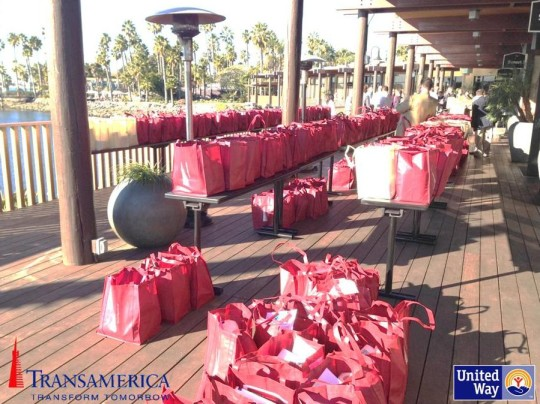 Teams from Transamerica Retirement Solutions, United Way, and Veterans Village of San Diego worked together to create