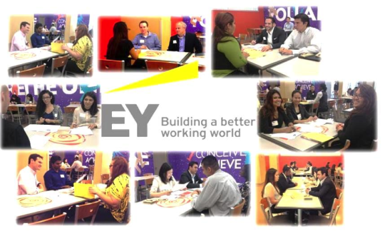 Employees from EY's Los Angeles office visited the YWCA Job Corps to meet with students and young adults to help prepare them for real job interviews.