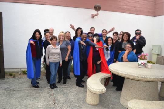 The California Department of Motor Vehicles team at Oxnard, CA, shown here at their October 23 presentation, answered the call to be Community Heroes!