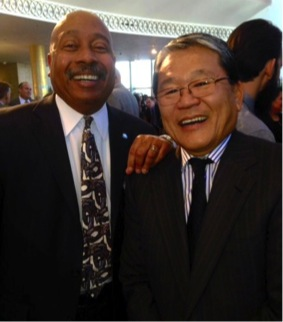 Vernon Webb from United Way with Los Angeles County Chief and United Way Board Member, Bill Fujioka at this year's Productivity and Quality award event on October 16.