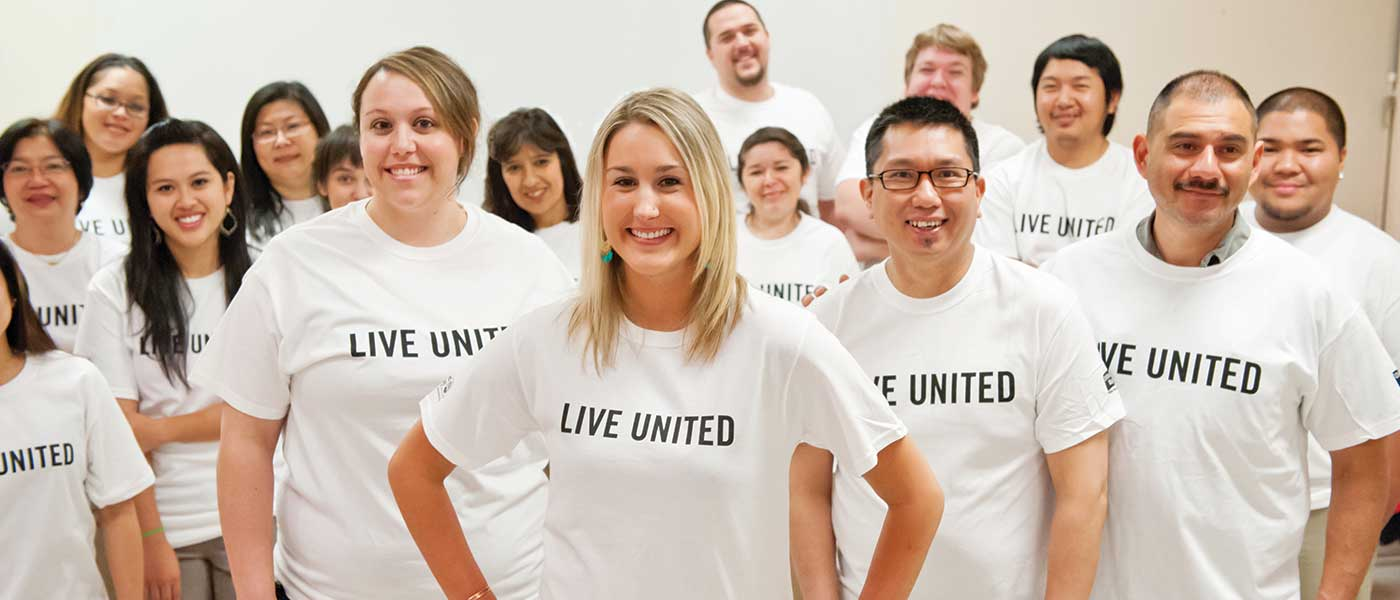 United Way Volunteers Group photo