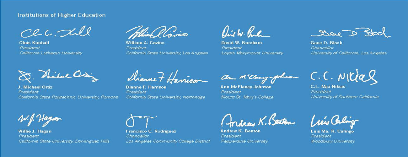 Institutions of Higher Education Signers