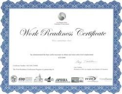 WRC Certificate