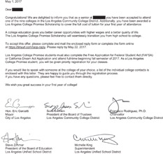 College Promise Letter