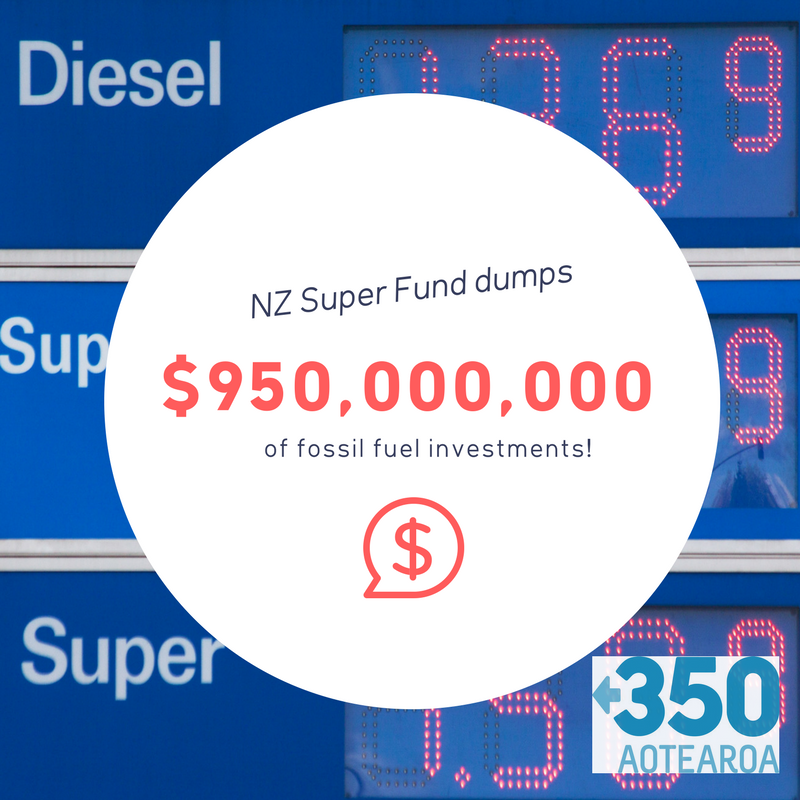 Unite welcomes NZ Super Fund divesting from fossil fuel giants