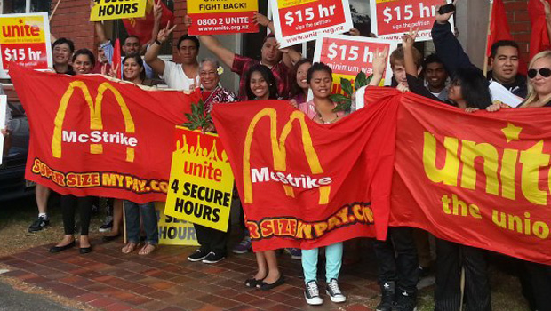 Unite strikes from 2013 part of a long campaign to boost wages in the fast food industry.