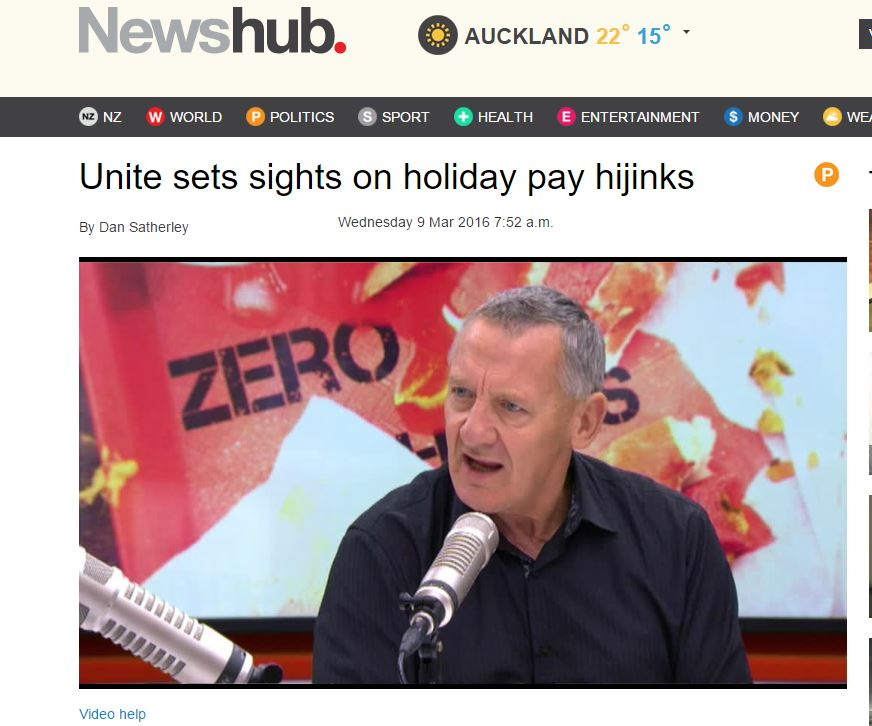 Unite has been fighting to get workers paid leave they have been cheated from for last three years