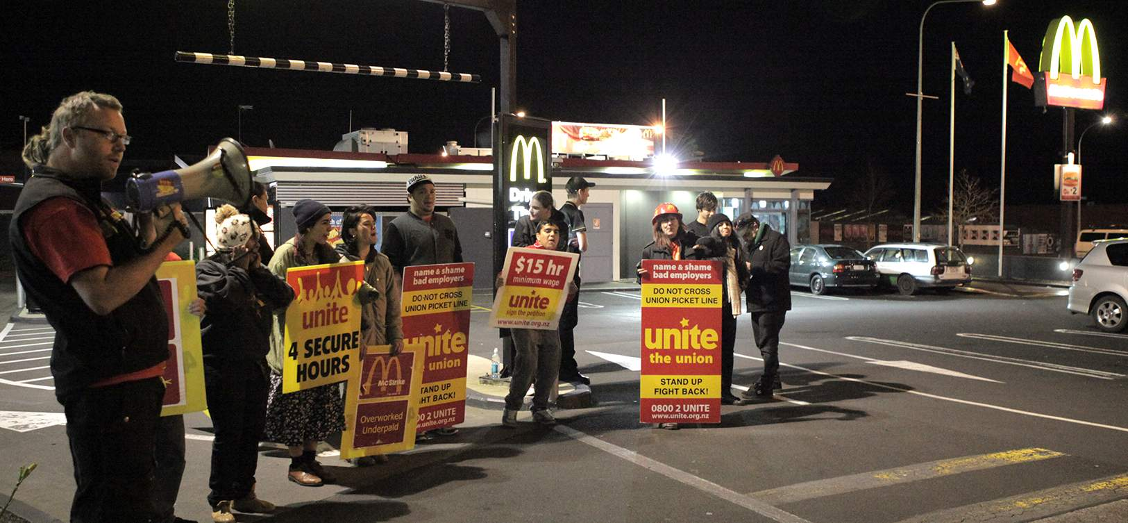 Strike at night during contract negotiations in 2013