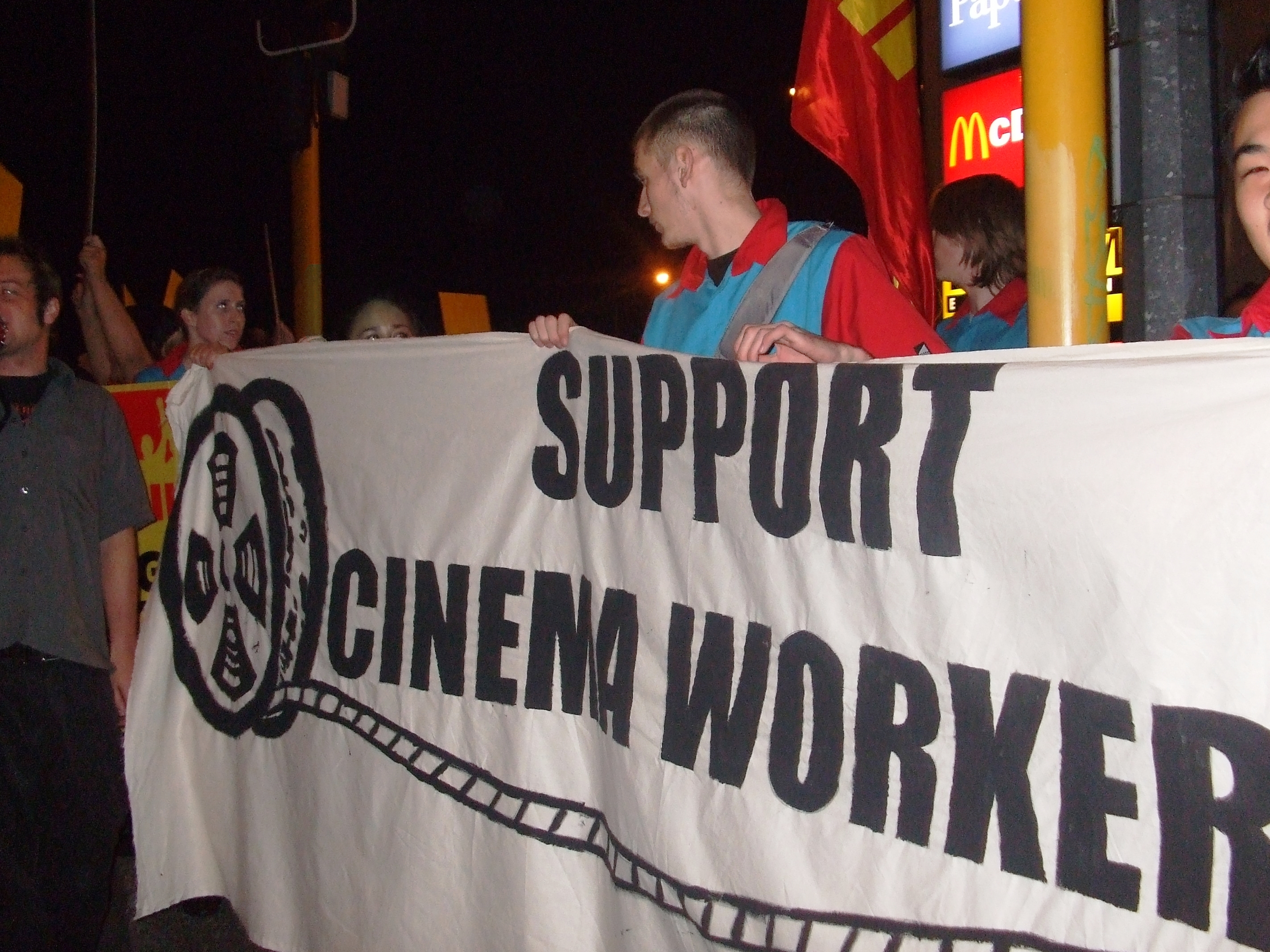 Cinema workers strike in June 2008