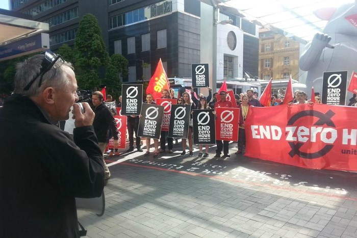 Mike Treen talks to McDonald's strike against zero hour contracts in 2015