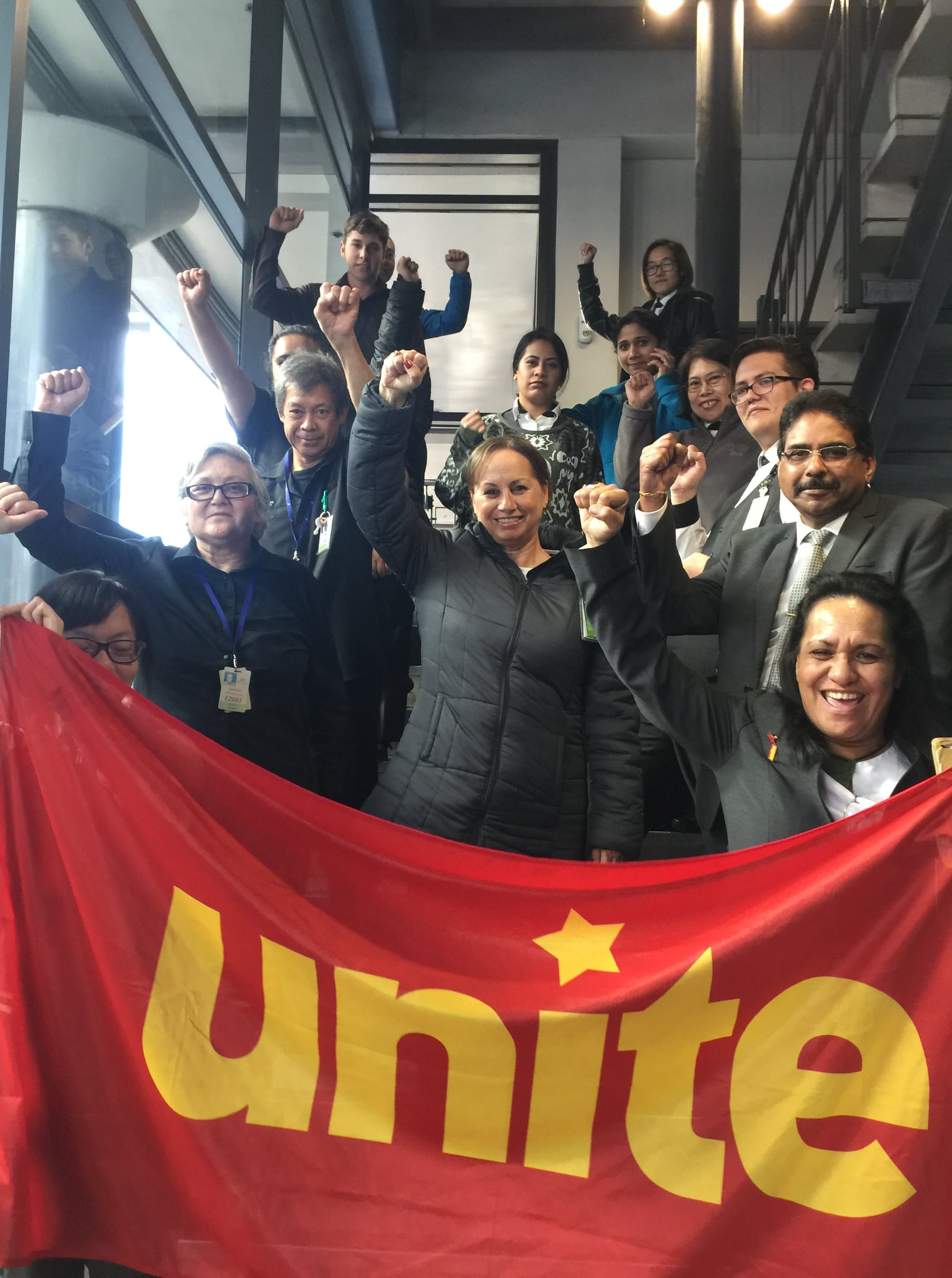 Sea-Unite members at SkyCity stay staunch
