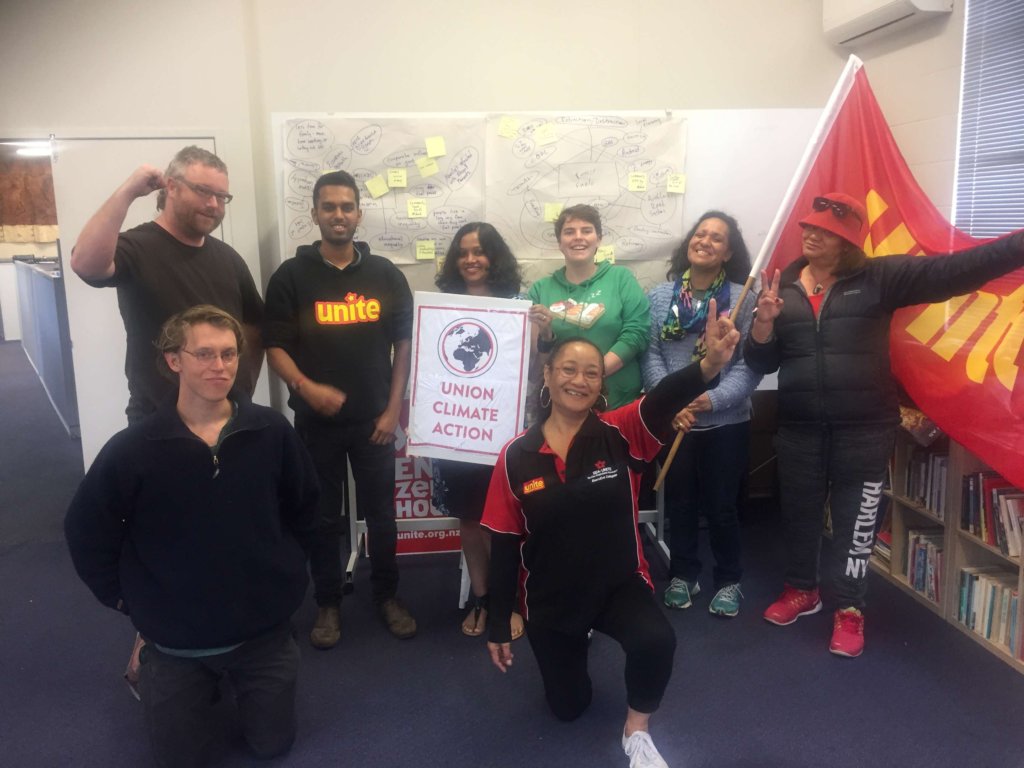 Unite Union members complete union's first climate change workshop