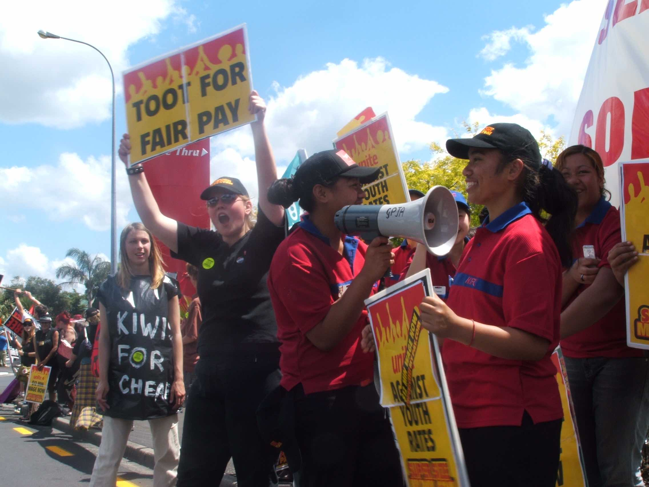 KFC, Pizza Hut, Carls Jr and Starbucks workers to strike tomorrow
