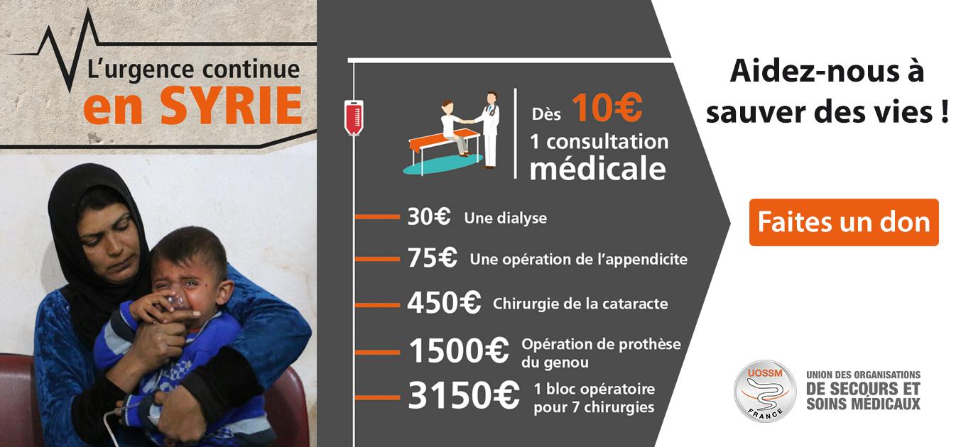 Urgence Syrie UOSSM faites un don