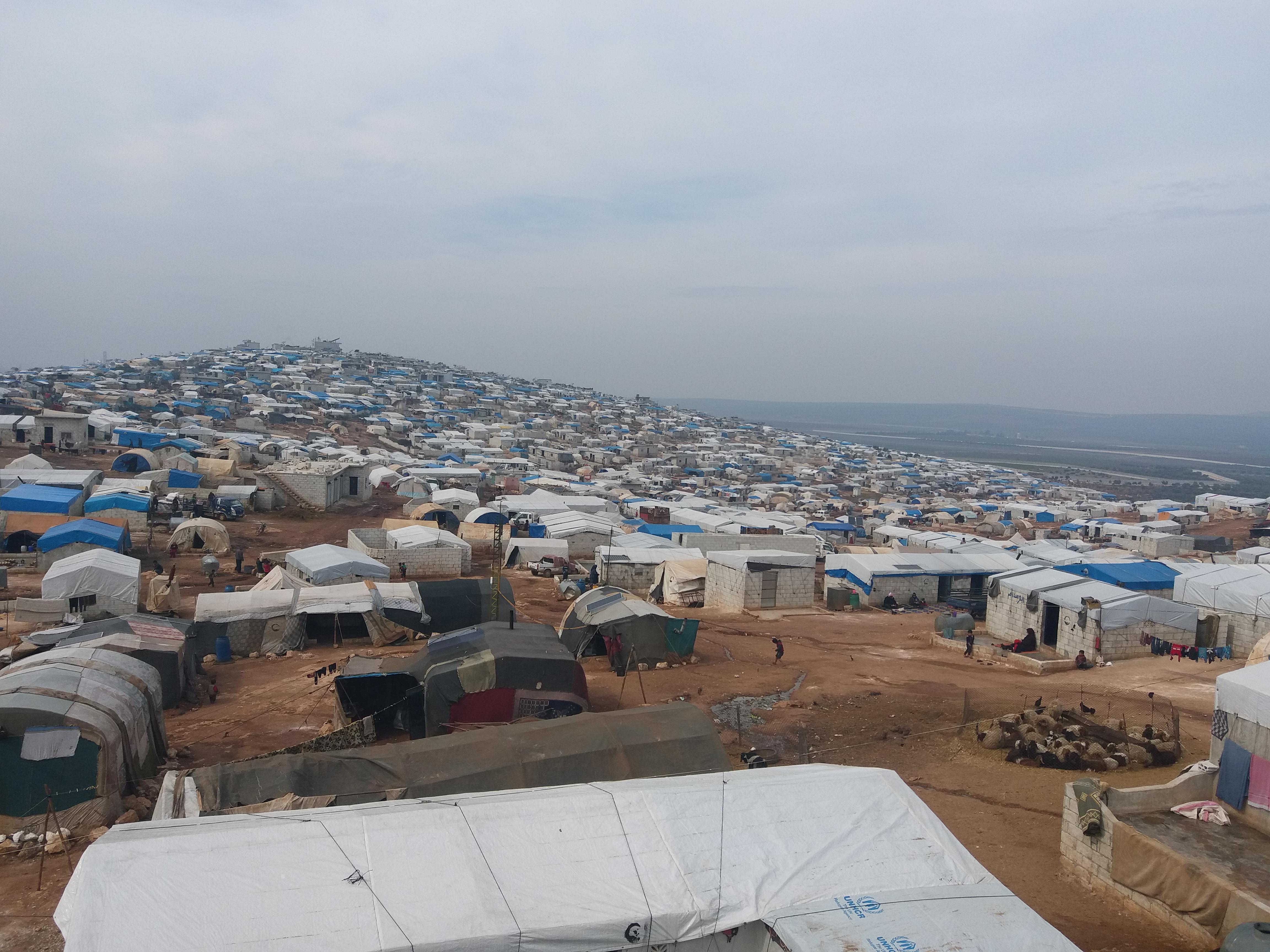 Le camp d'Atme en Syrie