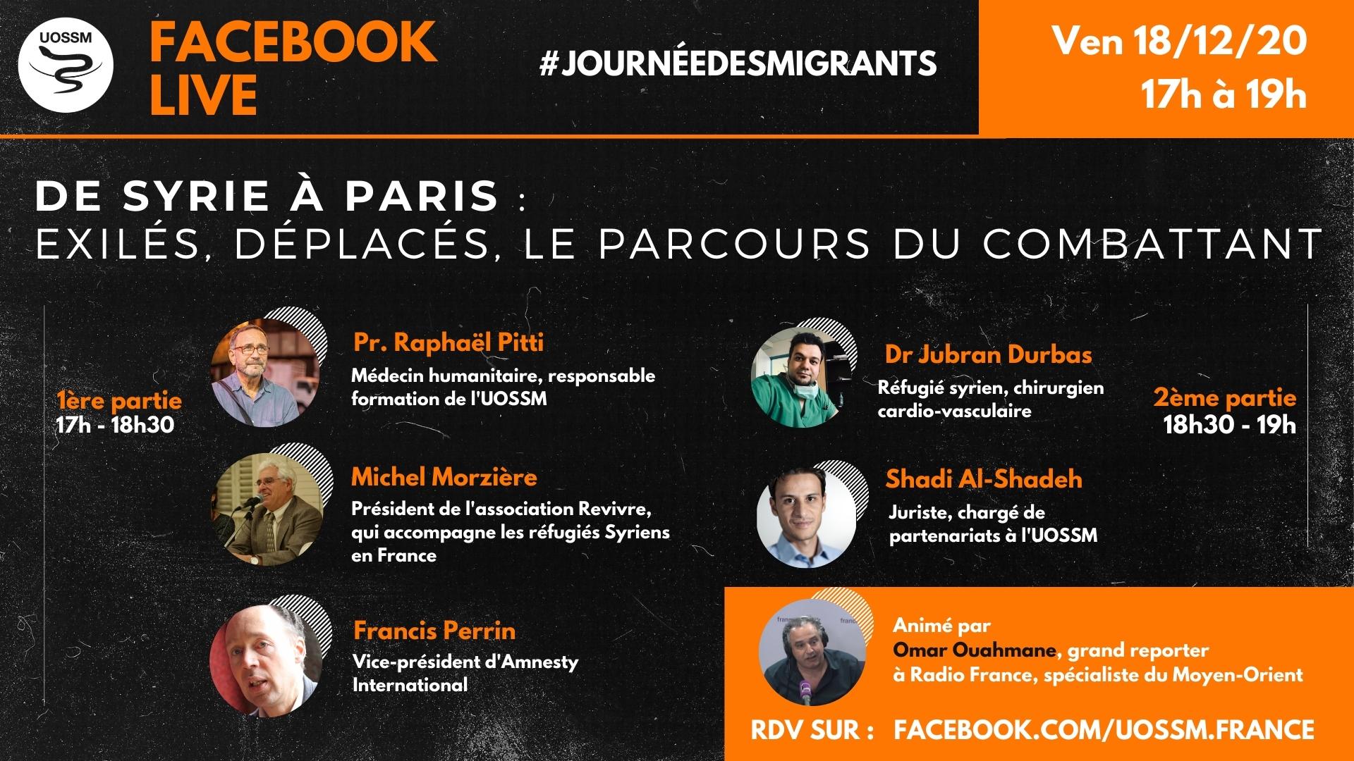 Affiche de l'événement live Facebook