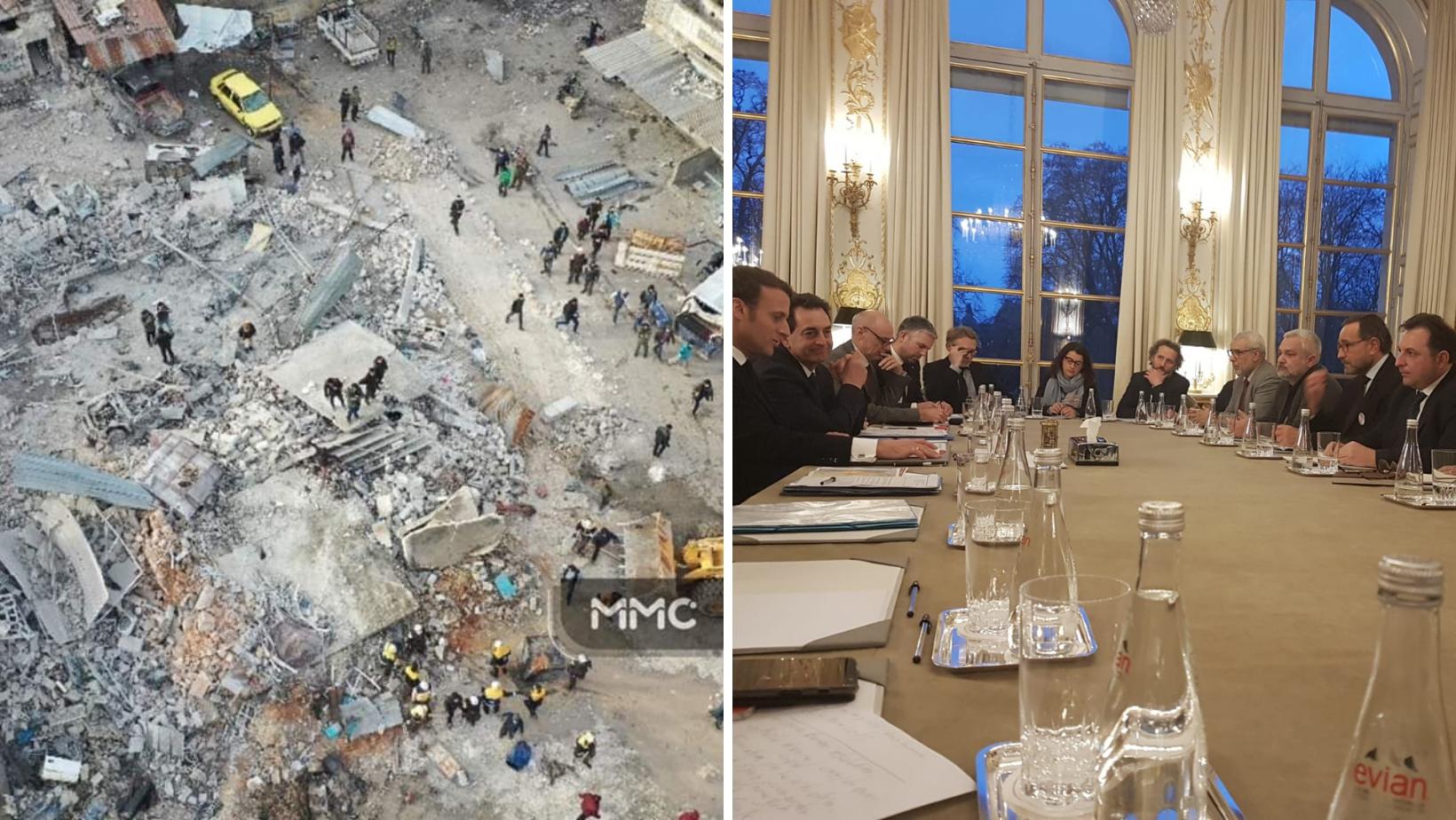 Bombardements marché d'Al-Hal et rencontre avec Emmanuel Macron - Janvier 2020