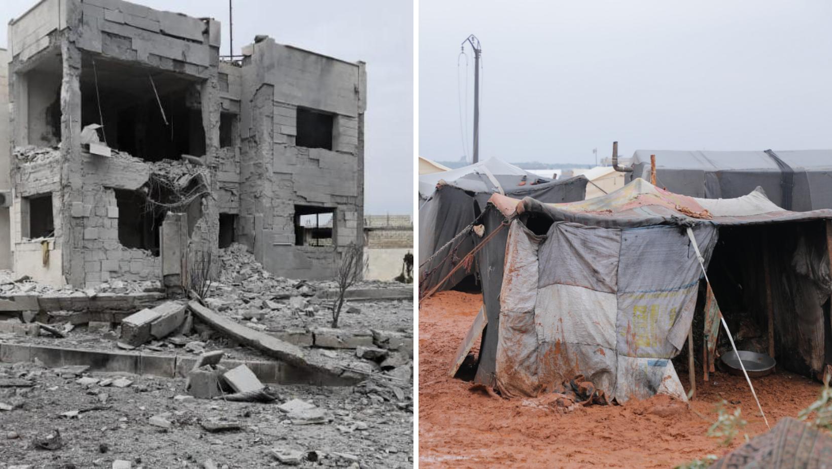 Bombardements et froid en Syrie