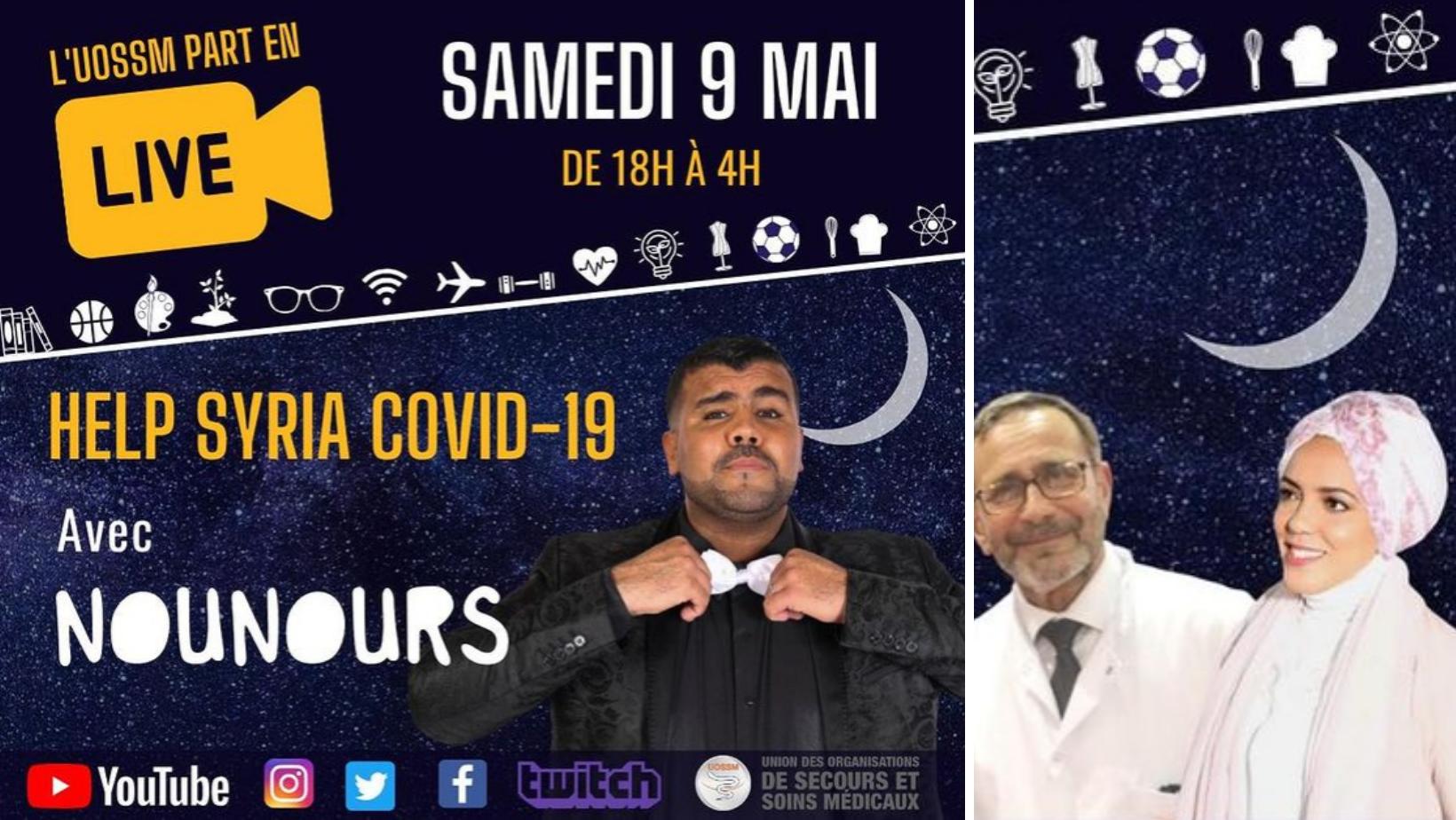 "Nuit blanche solidaire ""Help Syria"" de l'UOSSM"