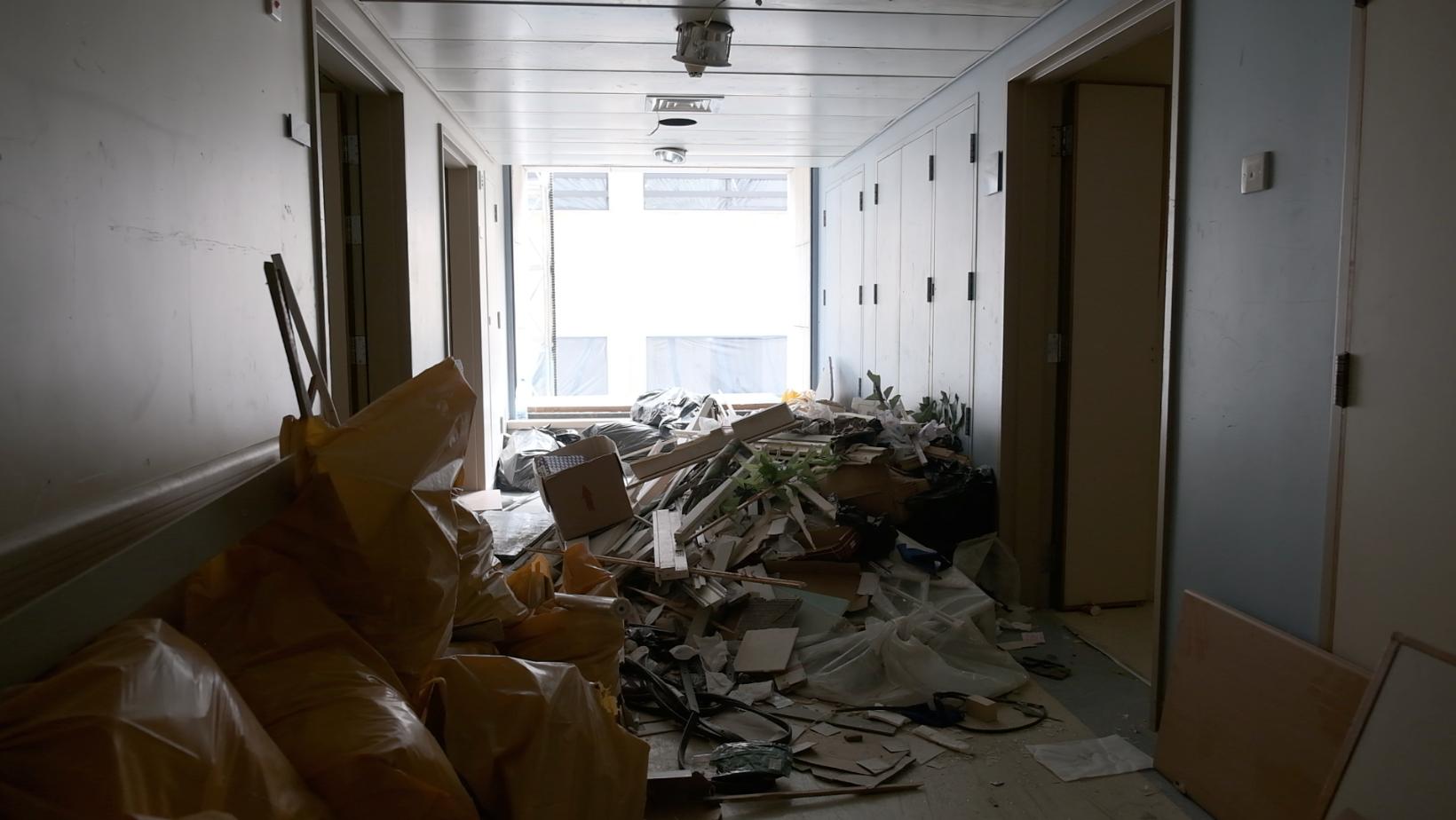 Un hôpital de Beyrouth après l'explosion