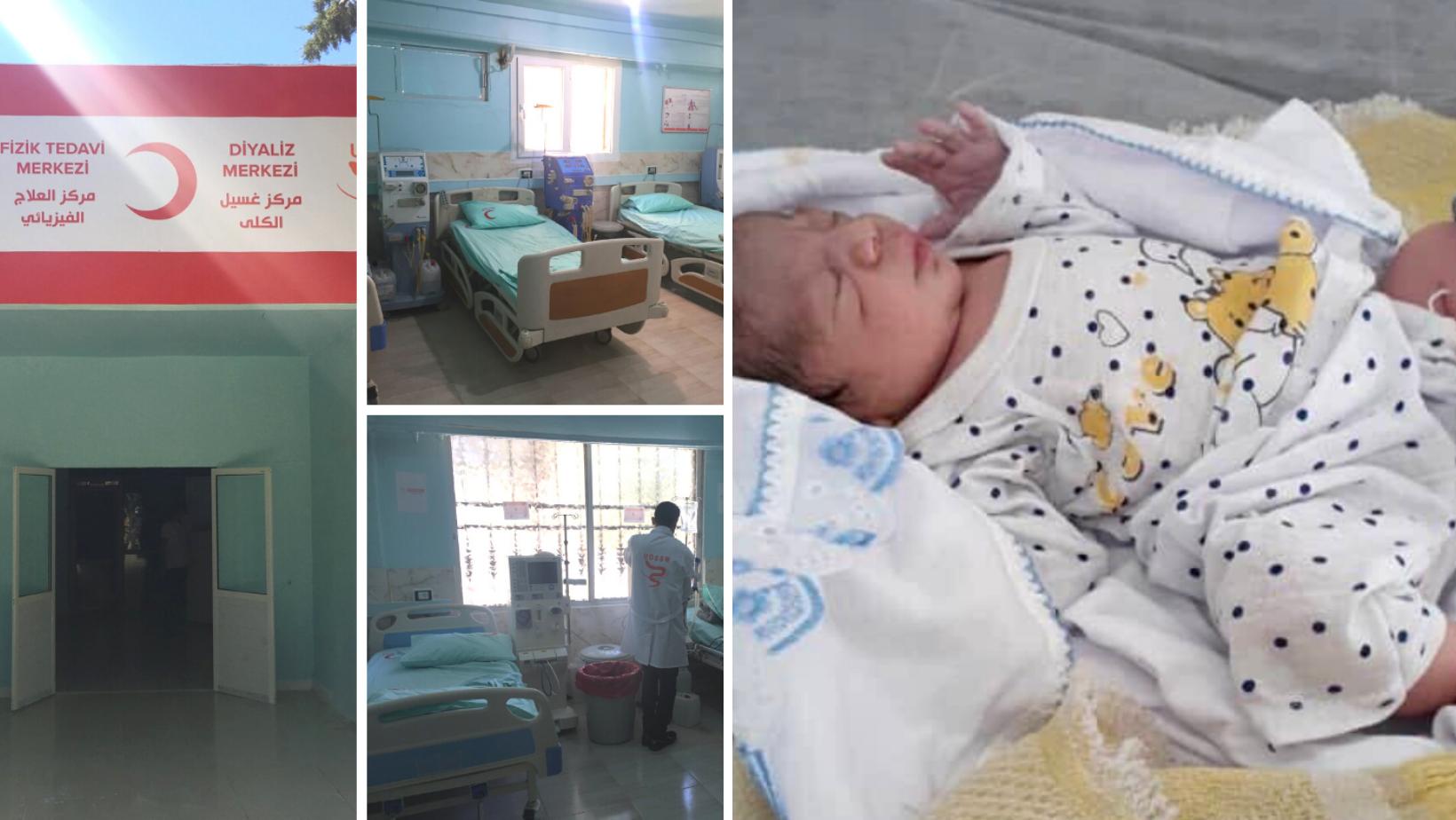 Nouveau centre à Tal Abyad et naissance d'un nouveau-né dans le nord-est
