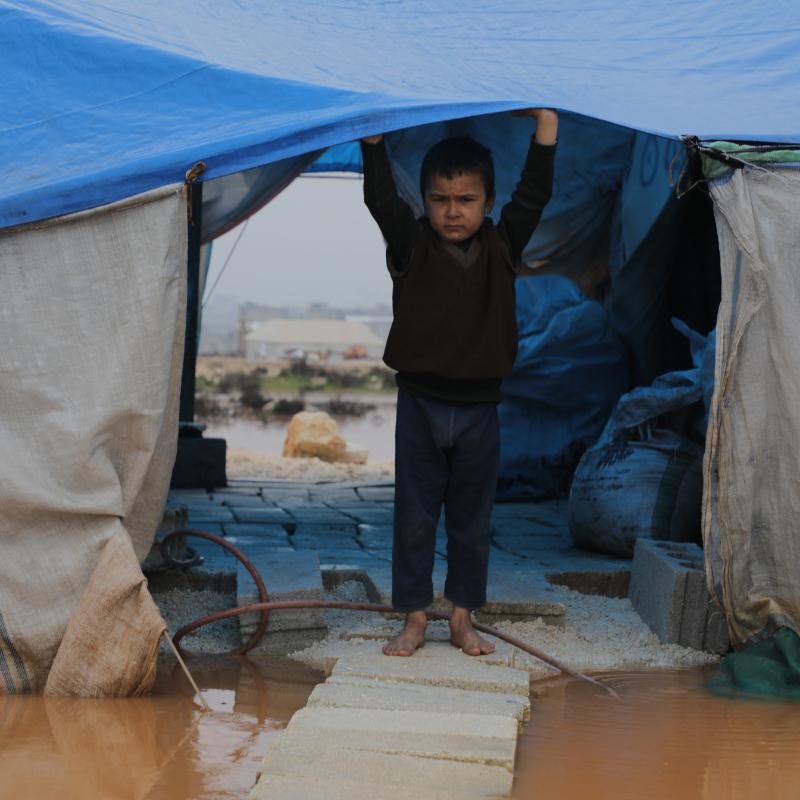 Enfant dans un camp en Syrie