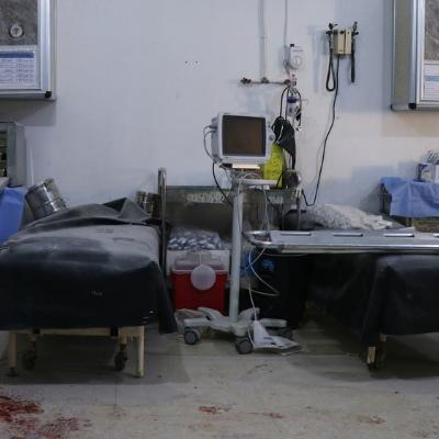 Bombardement hôpital Al-Atareb Alep Syrie UOSSM