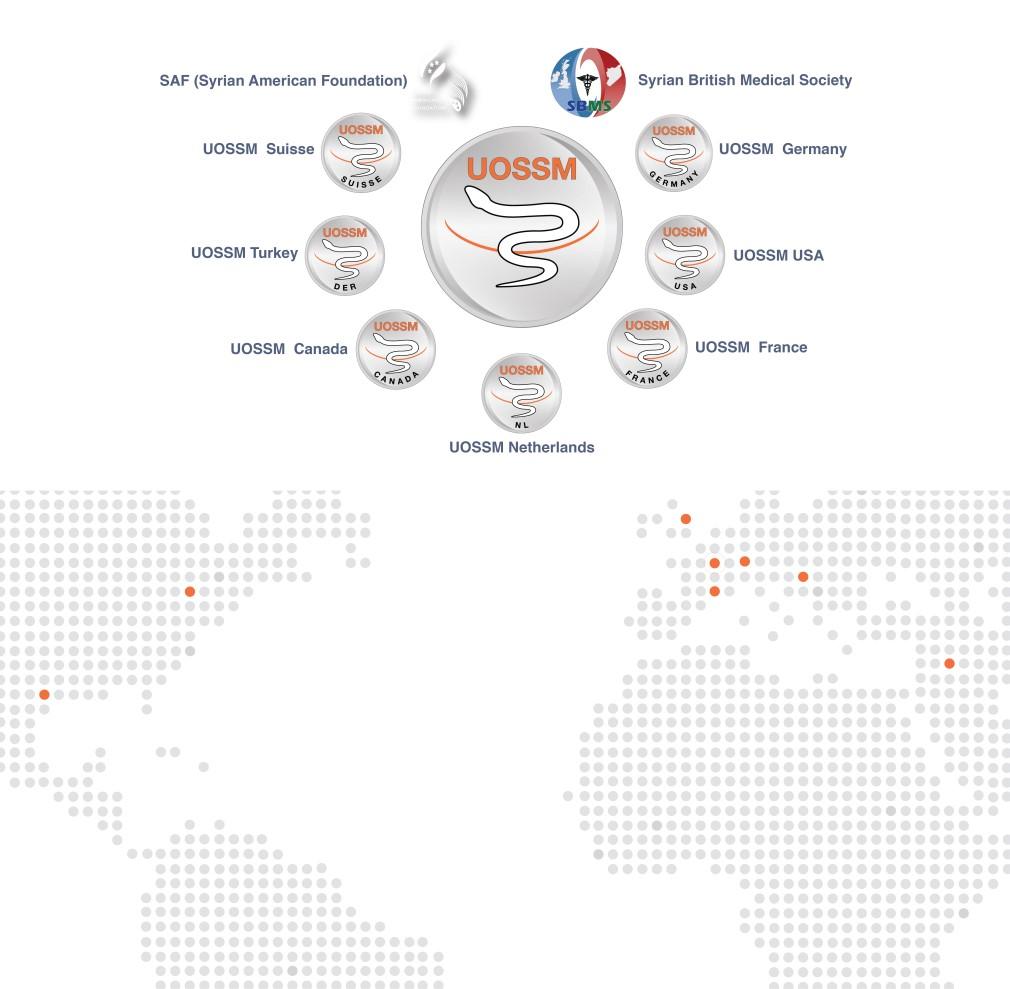 UOSSM member organizations sbms international map global worldwide