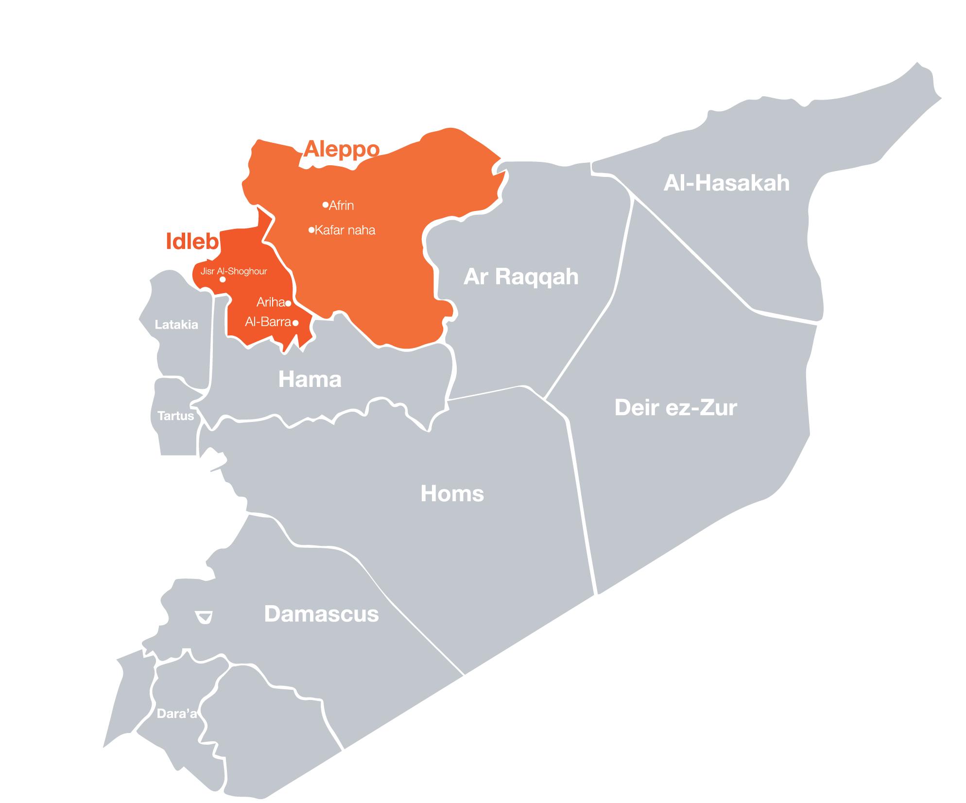 UOSSM location in Syria idleb halep aleppo