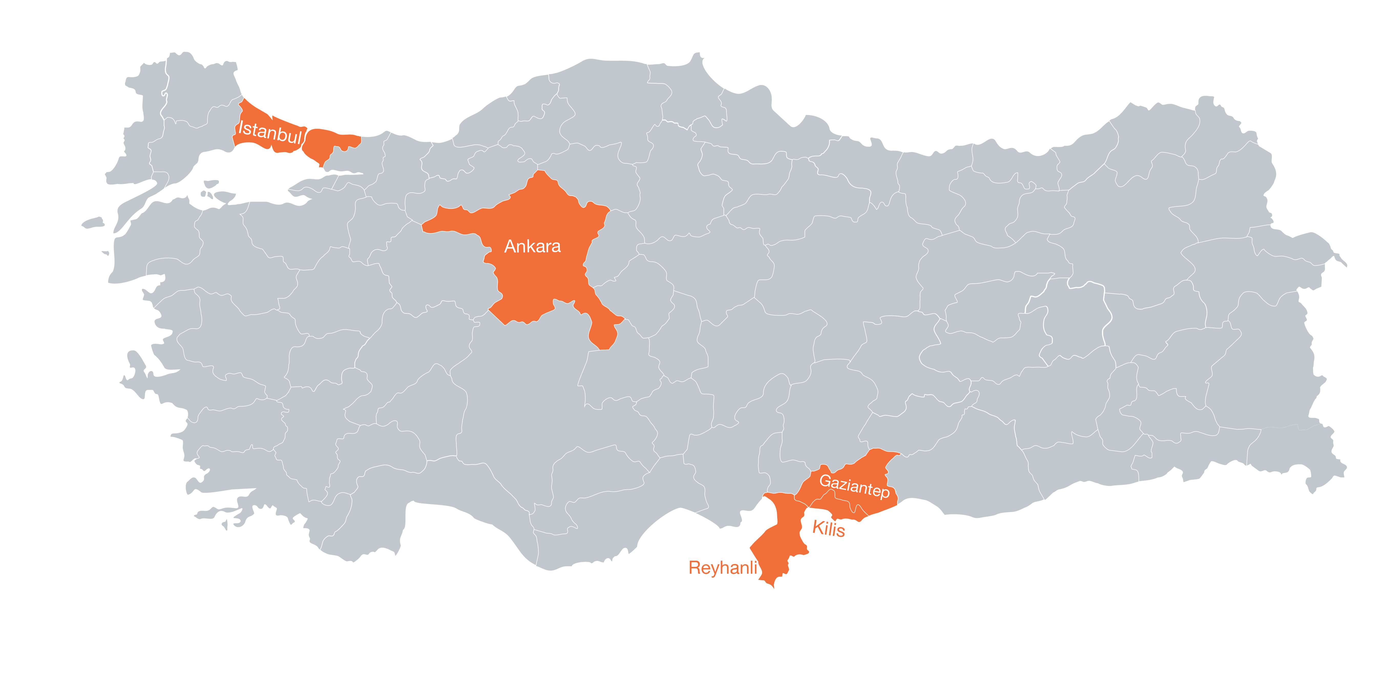 UOSSM loacation in Turkey istanbul ankara hatay kilis gaziantep