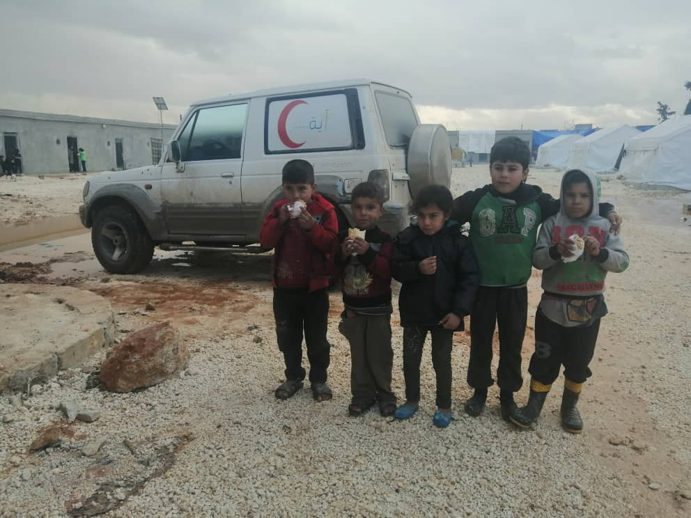 Displaced Children in Syria Receive Food Kits to Prevent Malnutrition