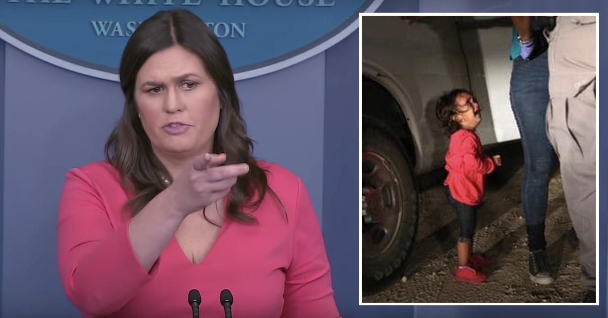 Sarah Sanders Blasts Fake Media Over Debunked Hoax Pic