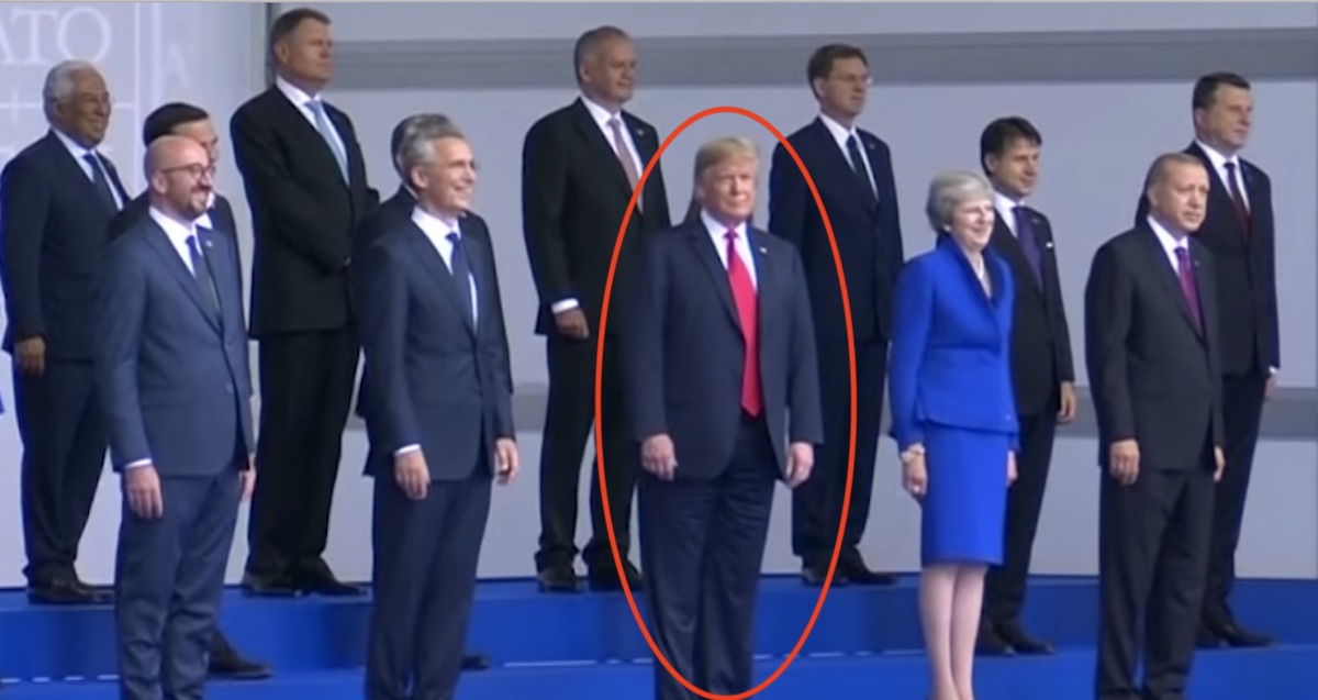 Internet Is Going Crazy Over This Photo of Trump With World Leaders at NATO Summit