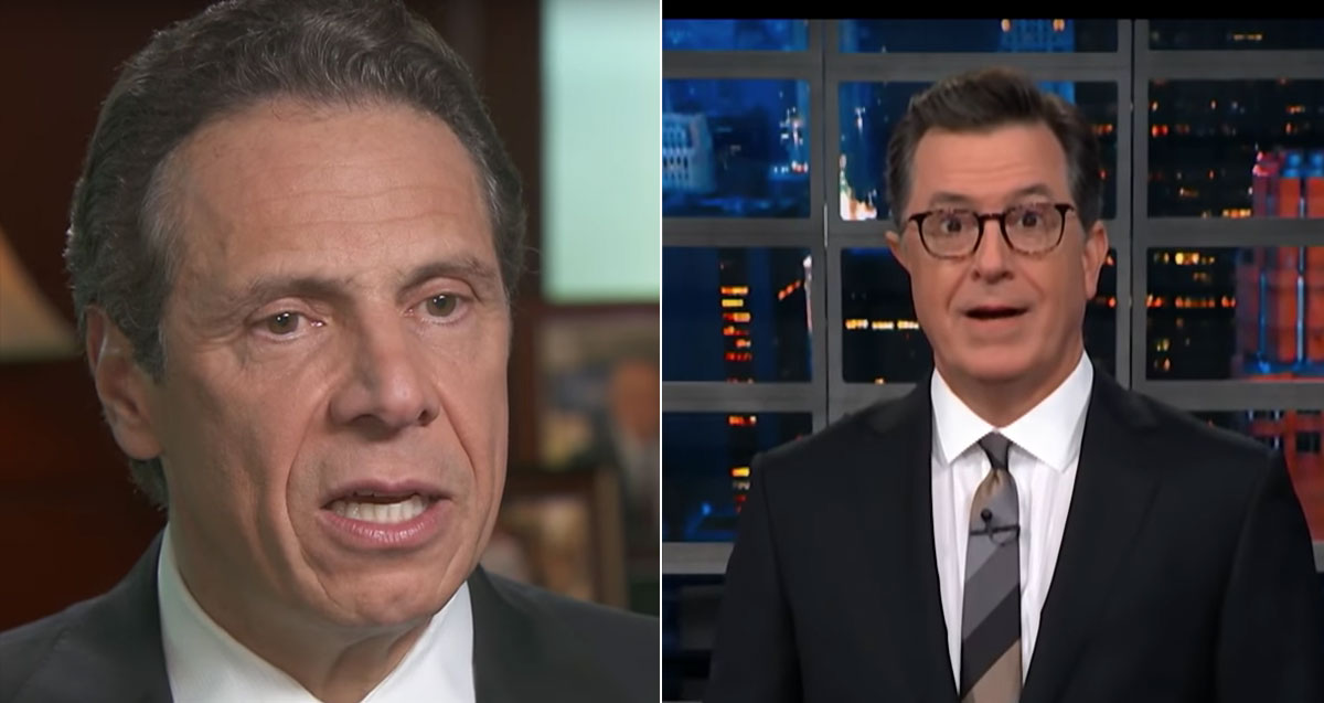 Colbert's Jaw Drops Open When He Plays Gov. Cuomo Saying America 'Was Never That Great'