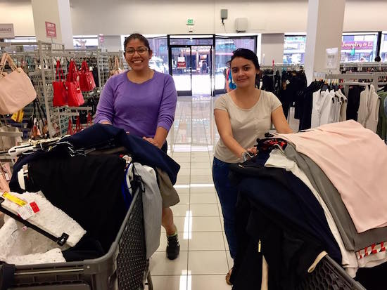 Frances Melchor & Alma Ventura Professional Attire Scholarship Shopping Trip
