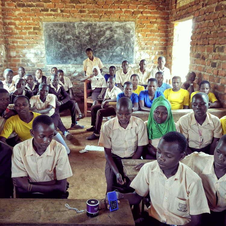 Audiopedia in a Ugandan Classroom